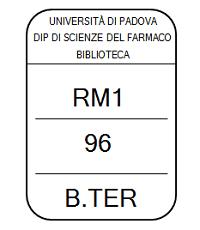 Immagine dell'etichetta di un libro