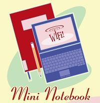 """Logo dello SBA per il servizio Prestito Notebook con lo slogan """"Wifi - Mini Notebook"""""""