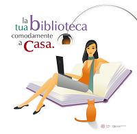 """Logo dello SBA per il servizio Auth-proxy con lo slogan """"La tua biblioteca comodamente a casa"""""""