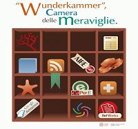 """Logo dello SBA per la """"Camera delle meraviglie"""" con lo slogan """"Wunderkammer"""""""